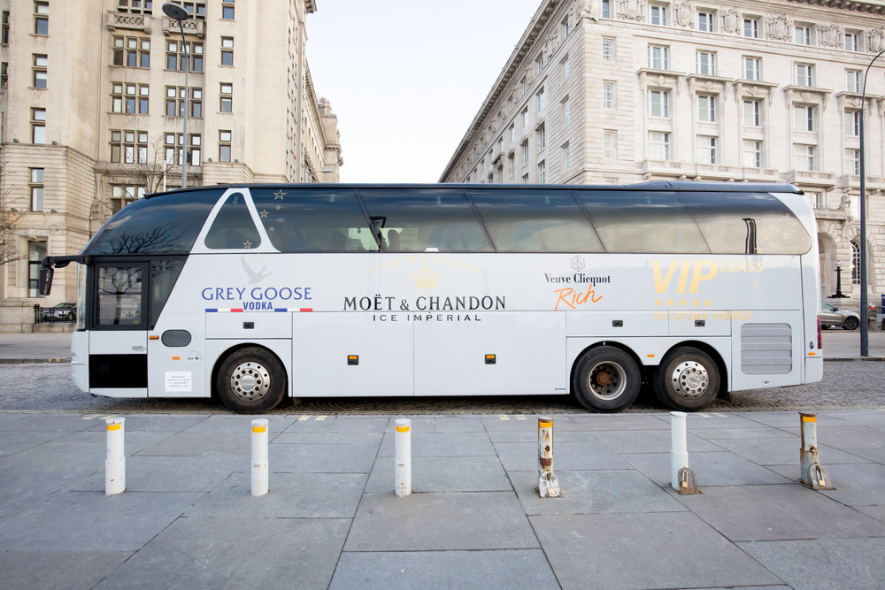 Coach Hire - We have a range of medium sized vehicles, from minibuses to coaches for those wishing to have a private bespoke tour of Liverpool for a medium sized group.