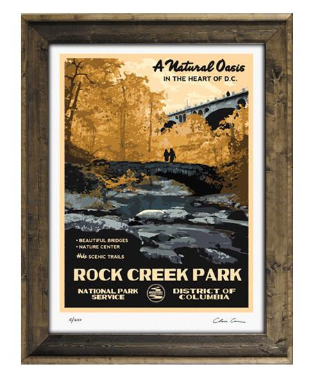 Rock creek park fine art print signed