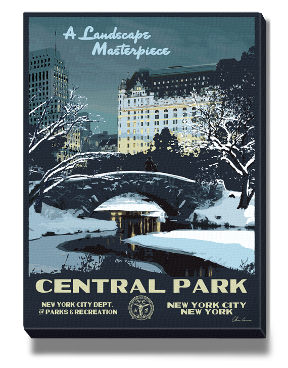 Marvelous NYC Vintage Gallery Wrapped Art Canvas   4 Locations To Choose From!