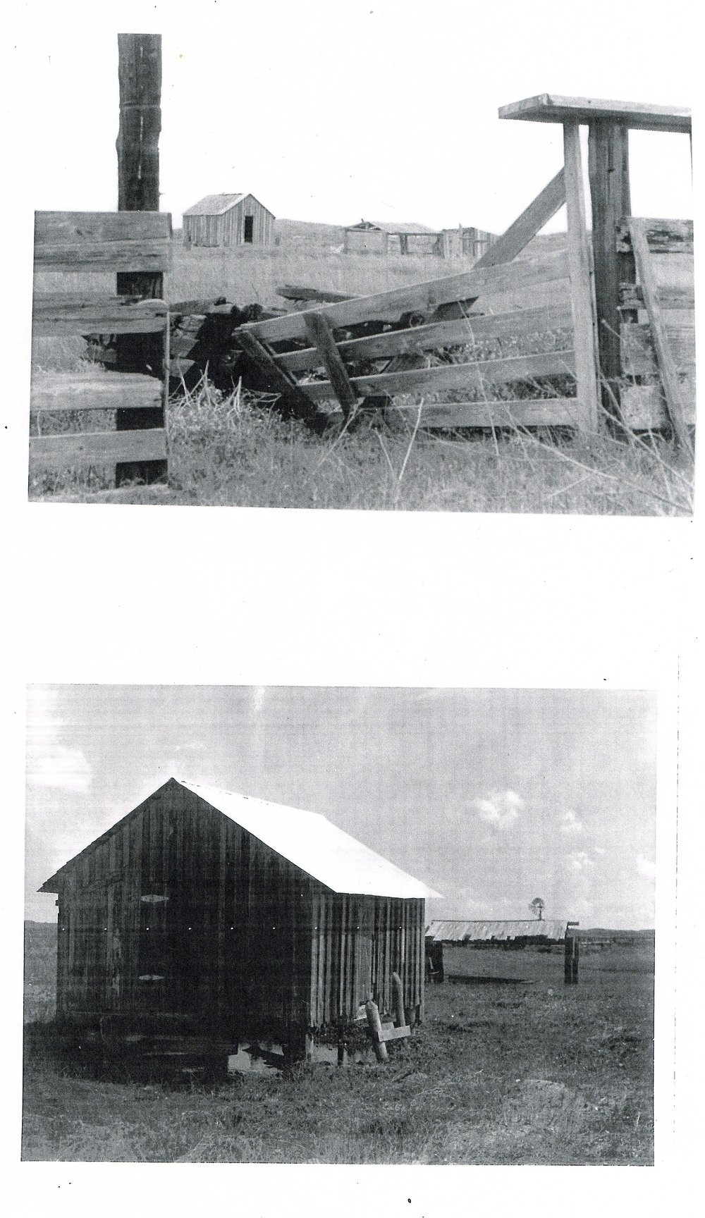 The old Novillo bunkhouse and linecamp.