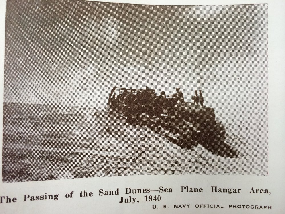 The Dunes for the name Flour Bluff were demolished during construction of NAS Corpus Christi.