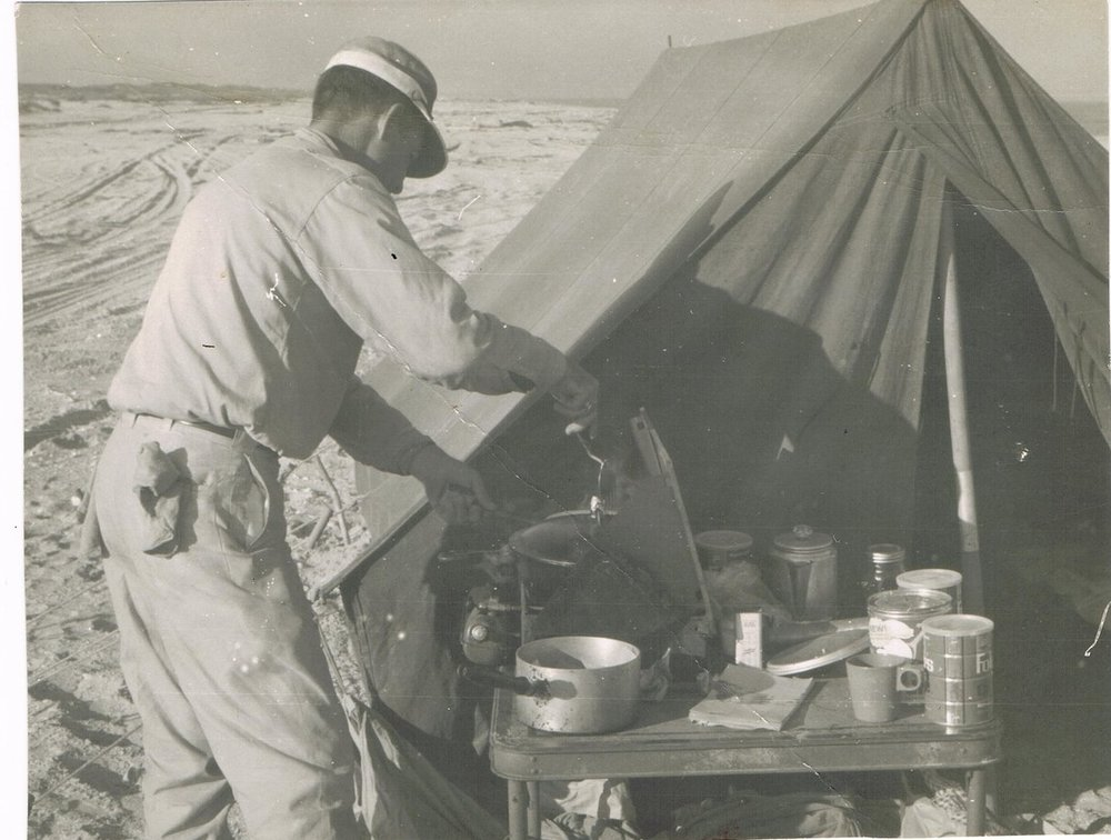 Ralph Wade at camp in the 1960s.