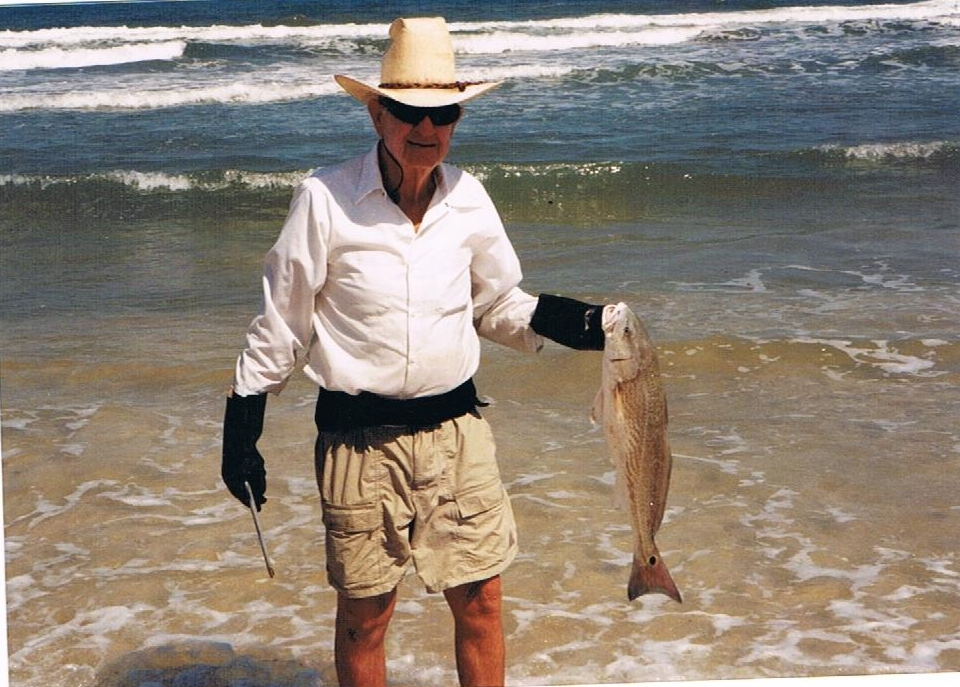 Ralph Wade with a redfish, 2005.