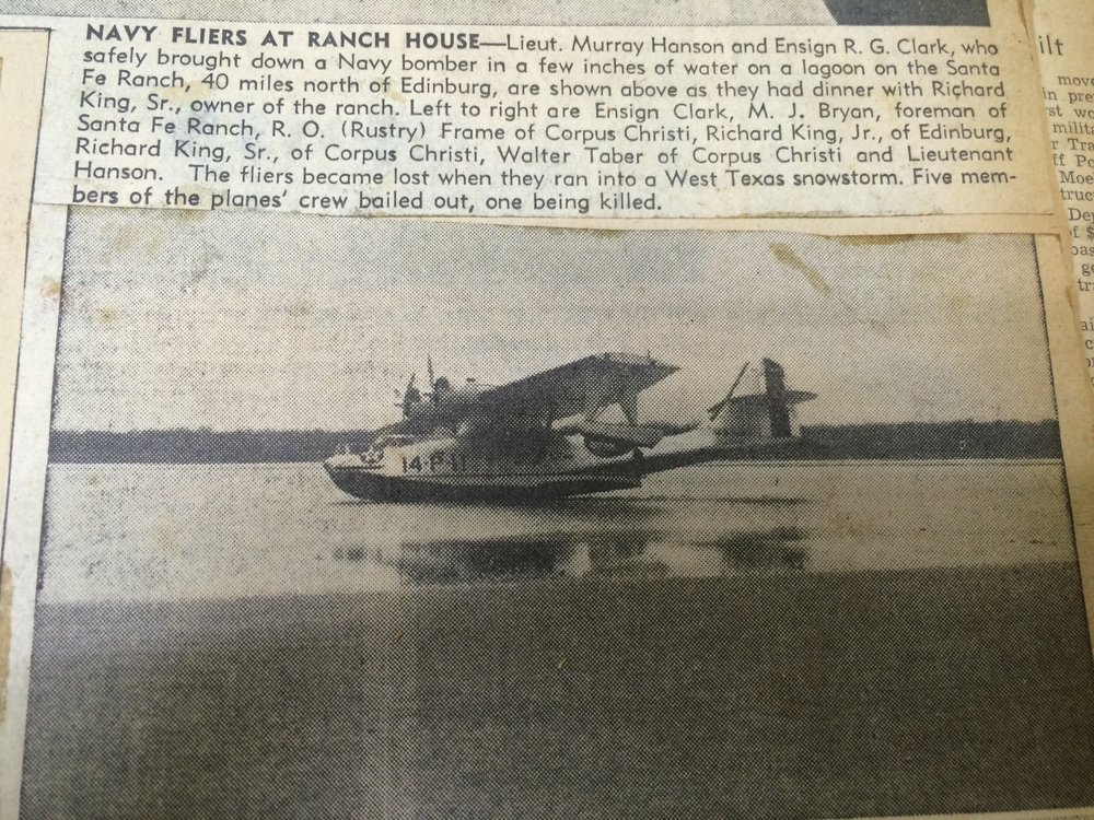 Navy Plane lands on the Landcut