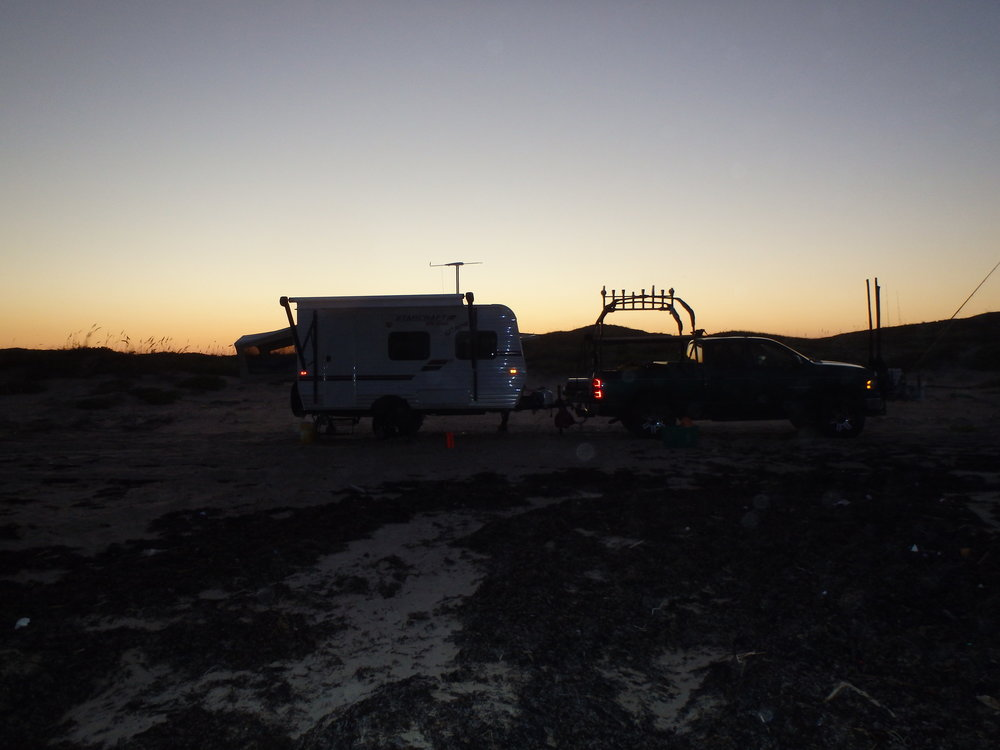 Sun setting over RV Camp