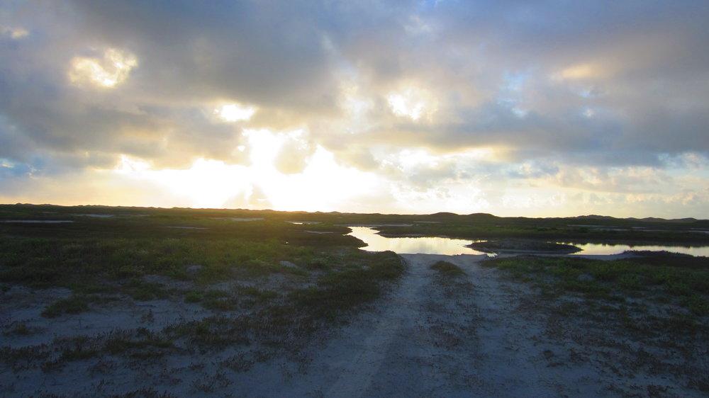 Sunrise near Cuba Island on the Laguna Madre side of the Island
