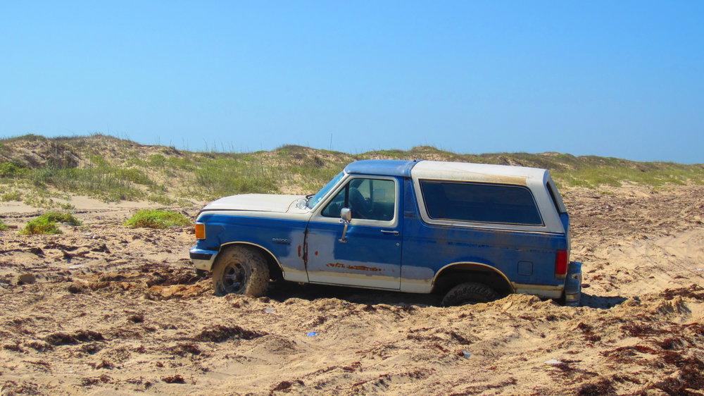Hazards of inexperienced beach driving