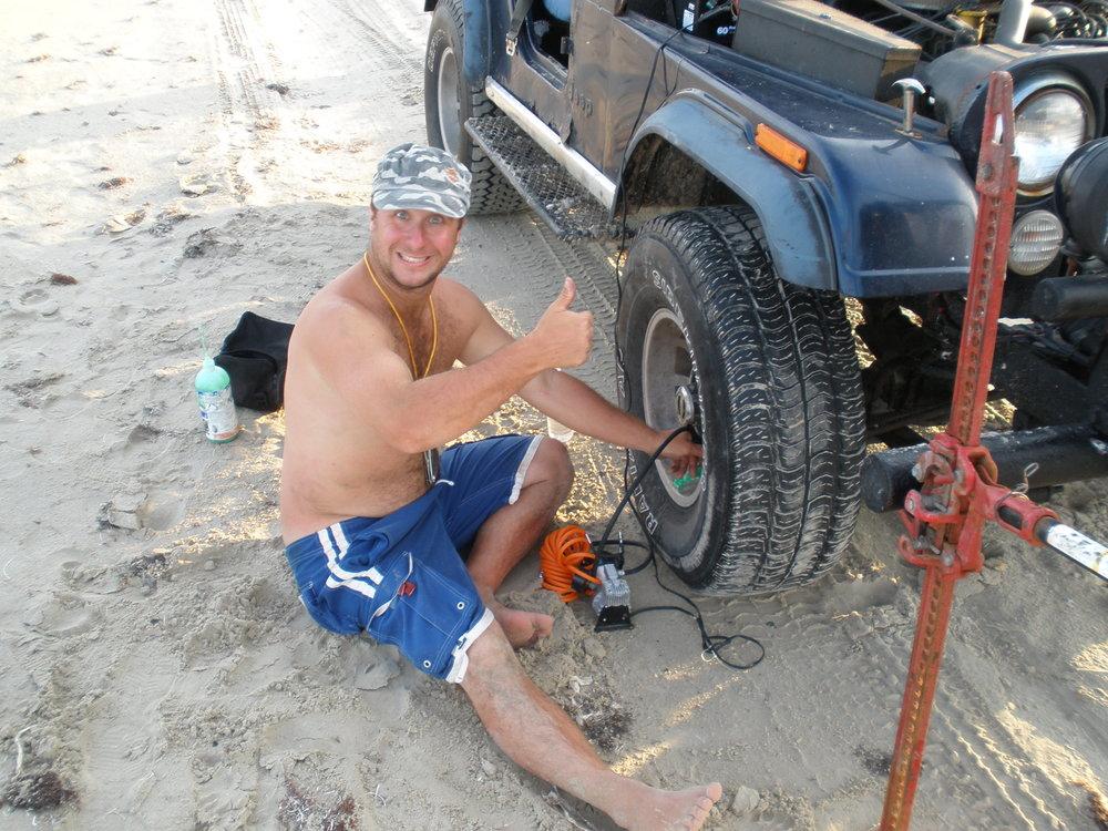 Rim leaking air/flat tire