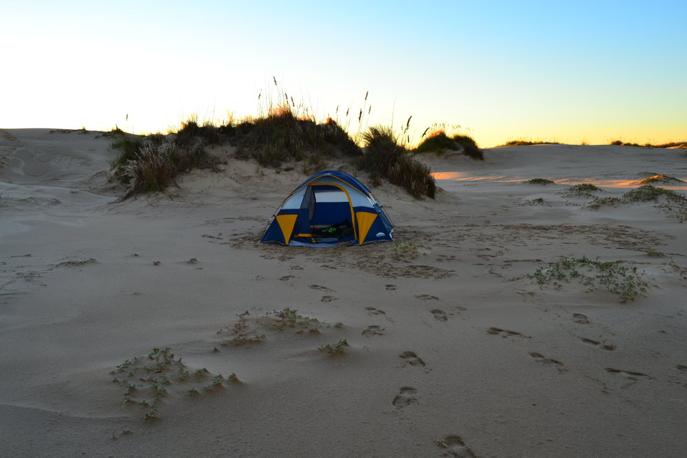 Dune field campout, Bull Reds, and C&GS Station Desert. - Padre Island National Seashore