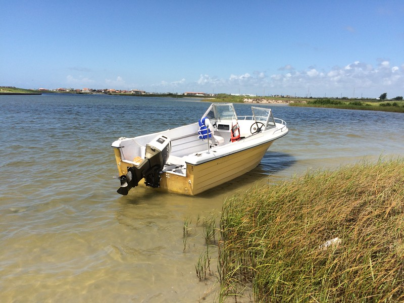 Turning a $300 boat, motor, and trailer into a running, working boat. - Corpus Christi, Texas