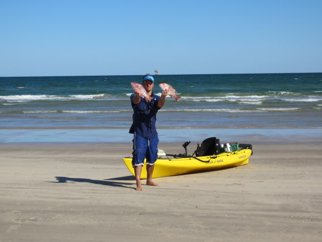 Beyond the breakers Kayak daytrip. - Padre Island National Seashore, Gulf of Mexico