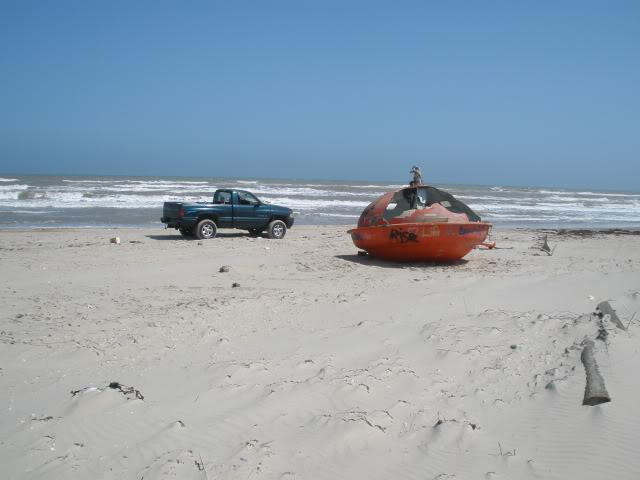 Hurricane Ike debris, washed ashore