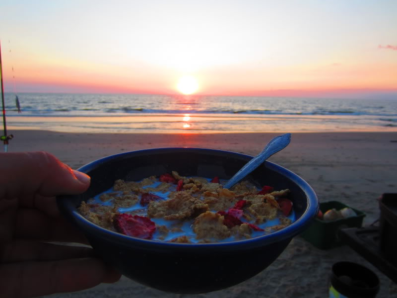 Sunrise and breakfast