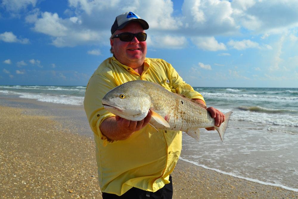 Scott Yanke with a bull redfish.