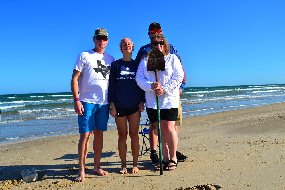 The Hicks family on a daytime shark charter.