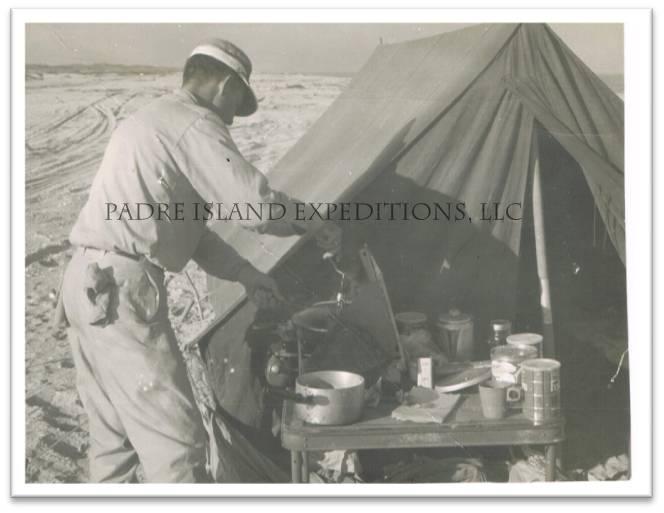 Ralph Wade at beach camp, early 1960'S.