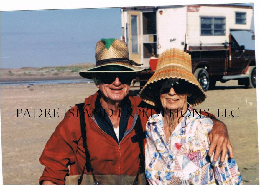 Ralph and his wife, beach camping.