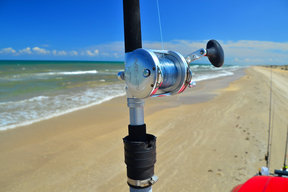 Fishing reel.