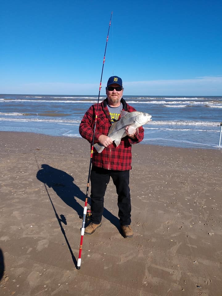 Perfect size black drum, caught on Harnell 534.