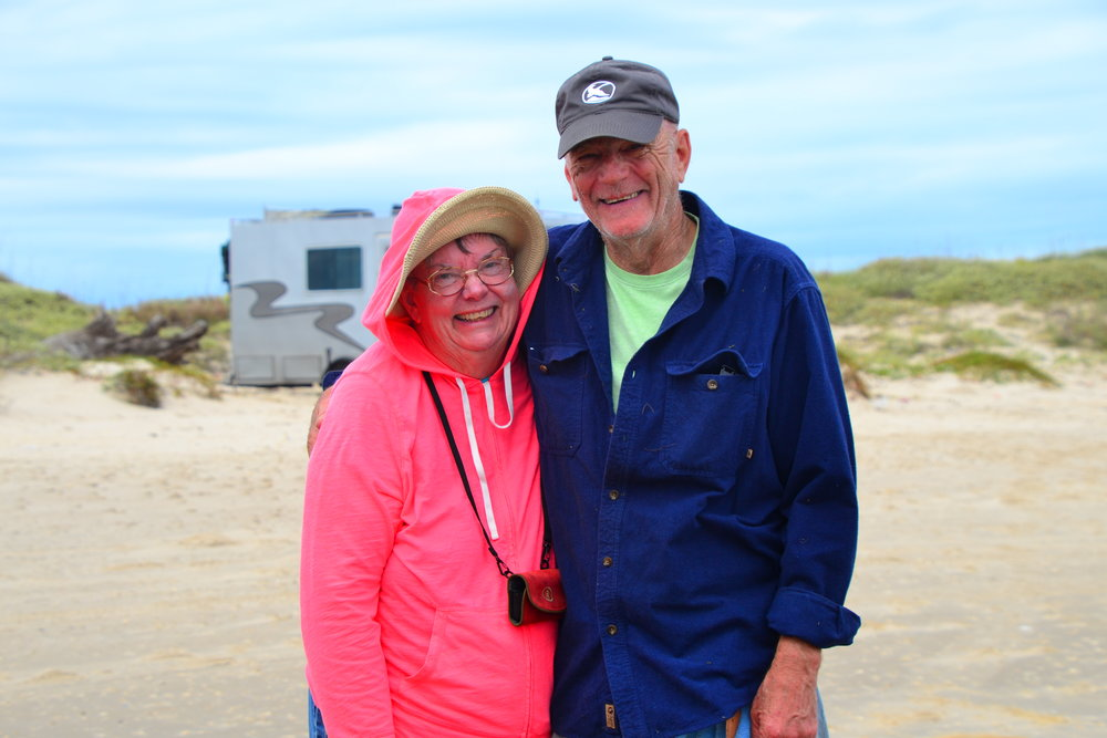 "November, visit with Camper Jim Wightman, ""East Coast Fisherman"" - Padre Island National Seashore"
