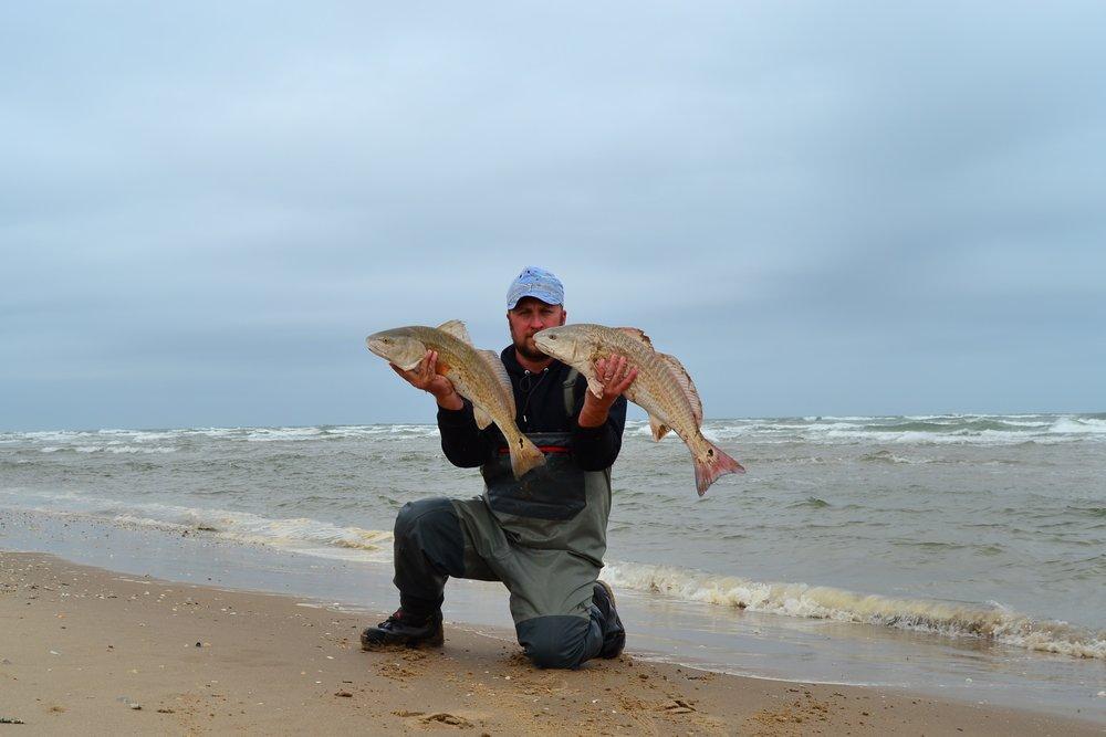 Pompano, limit of redfish, whiting, Javelina on Island. - Padre Island National Seashore