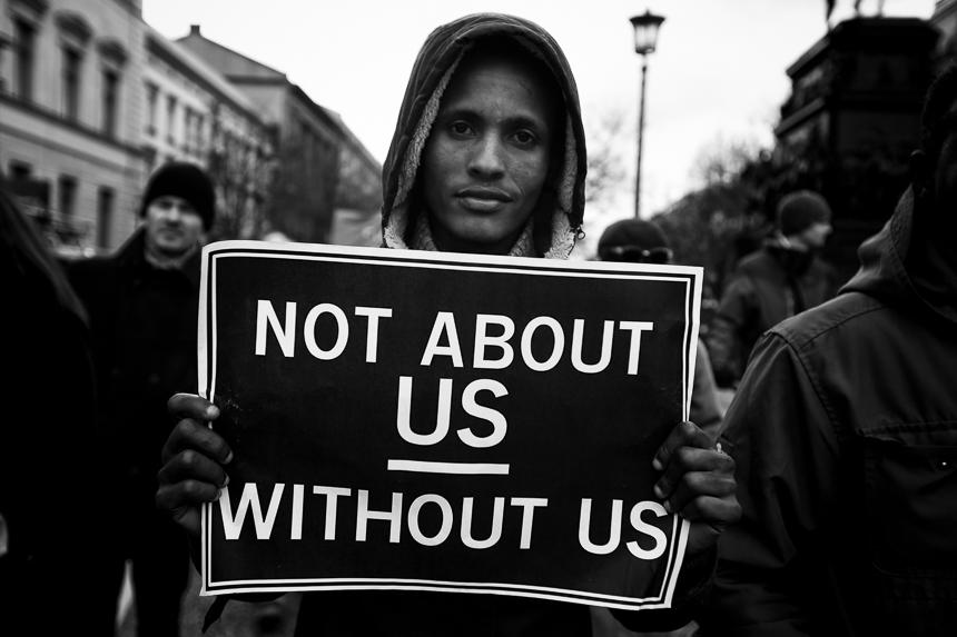 Demonstration in Gedenken an die Opfer von Kolonialismus und Skl