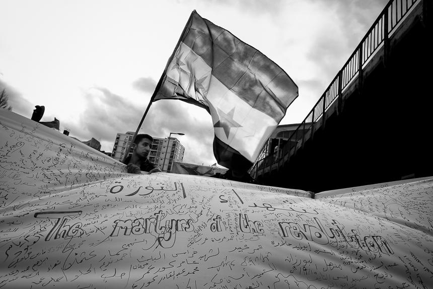 Sechster Jahrestag der syrischen Revolution in Berlin