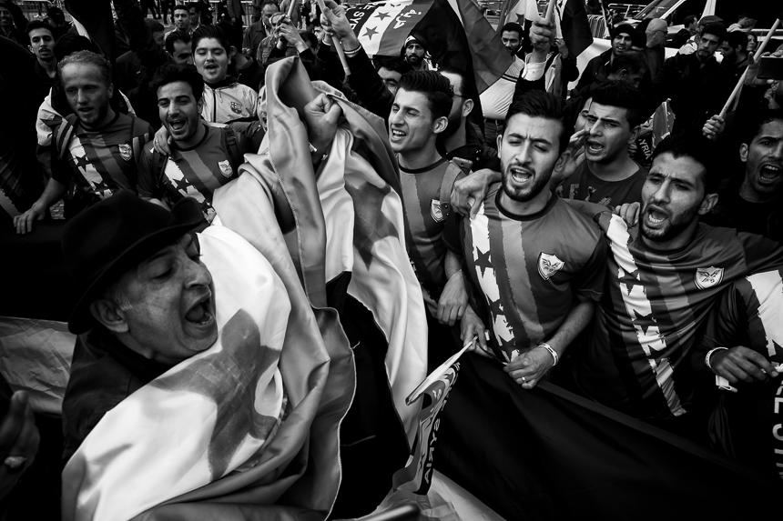 "Hunderte bei Kundgebung in Berlin zum ""Syrian Day of Rage"""