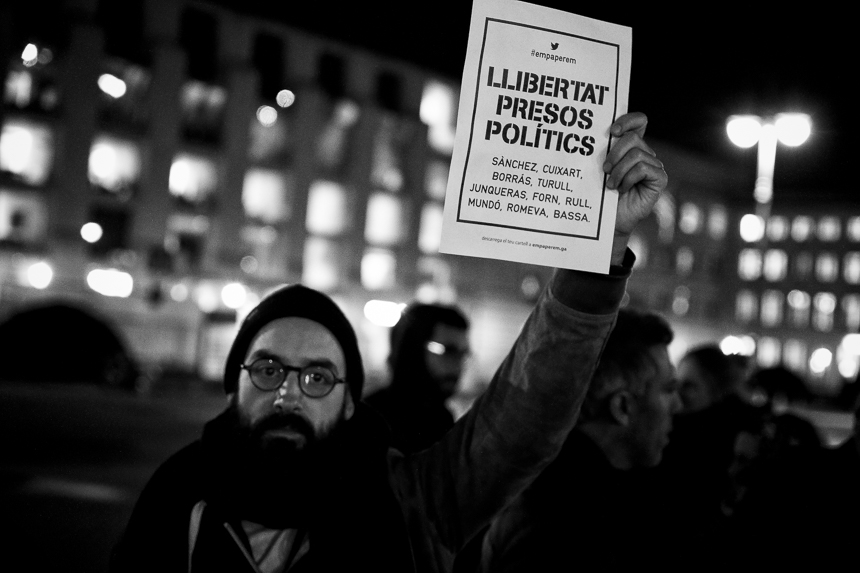 Katalanen fordern in Berlin die Freilassung politischer Gefangen