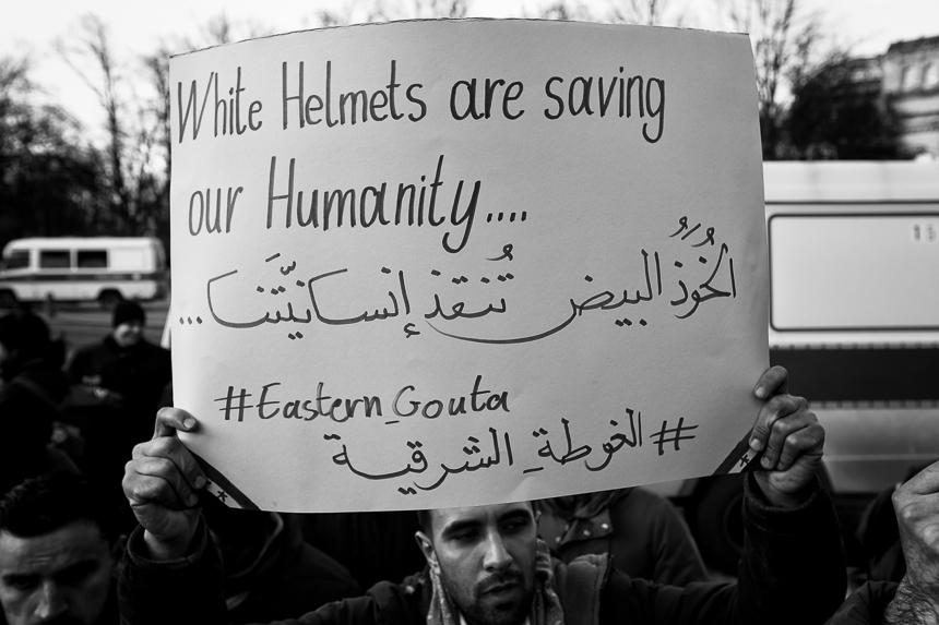 Syrer fordern in Berlin die Rettung von Ghouta
