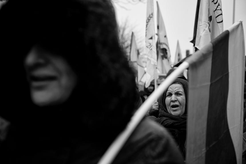 Kurden protesterieren vor der SPD-Zentrale in Berlin gegen türk