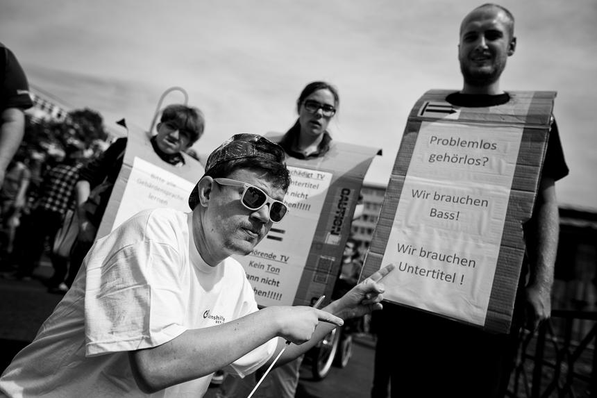 Europäischer Protesttag der Behinderten in Berlin
