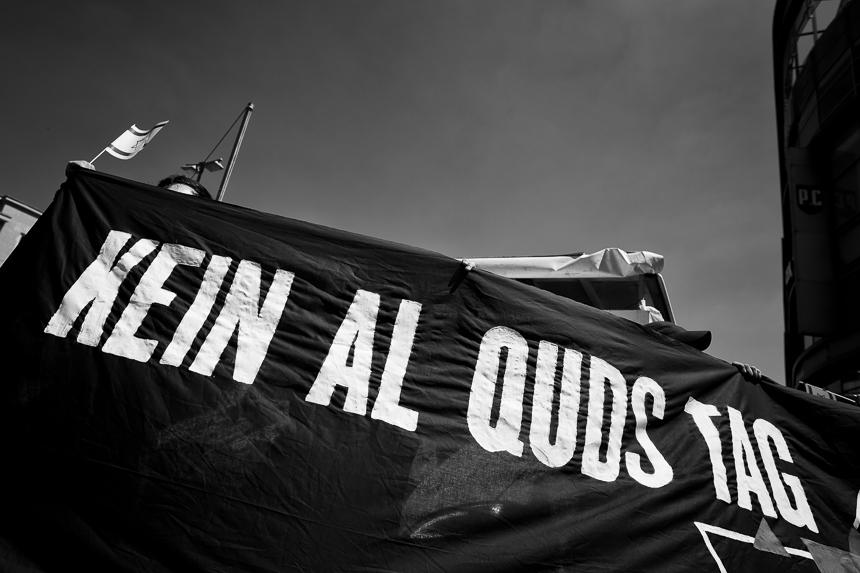 Proteste gegen den Al Kuds Marsch in Berlin