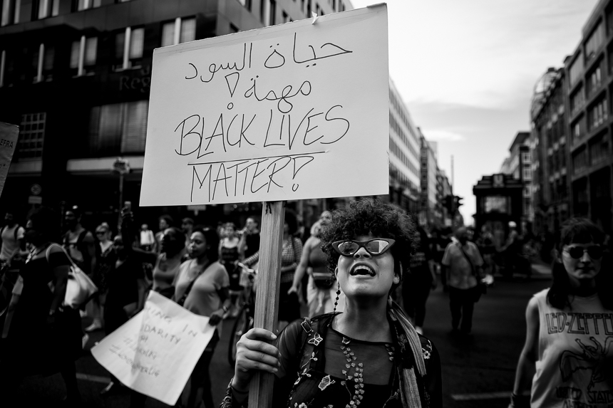 Black Lives Matter Demonstration in Berlin