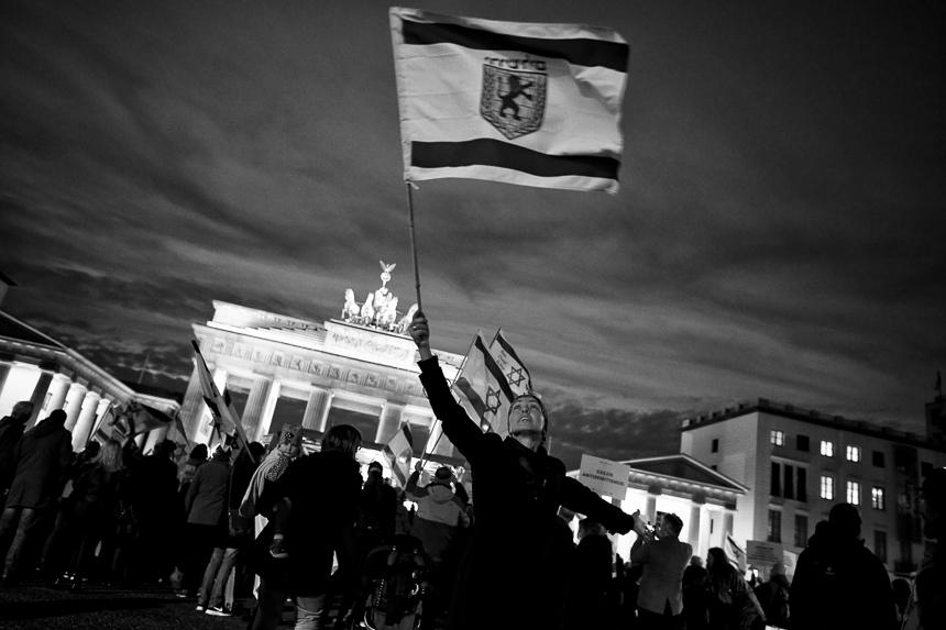 Kundgebung in Berlin gegen Antisemitismus und für Israel