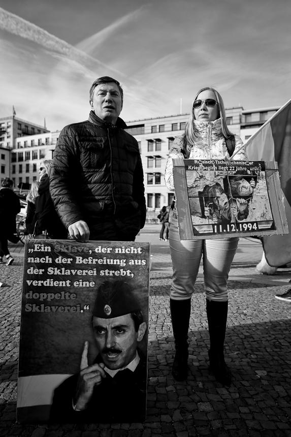 Kundgebung in Berlin zur Einnerung an den Beginn des ersten Tsch