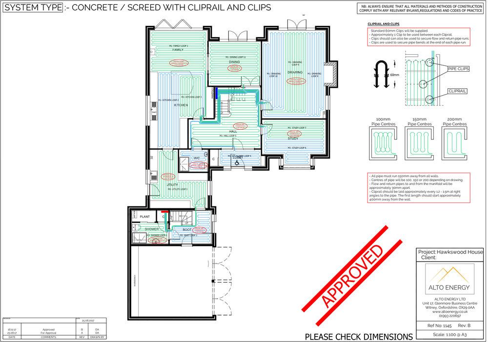 Underfloor Heating Design Drawing