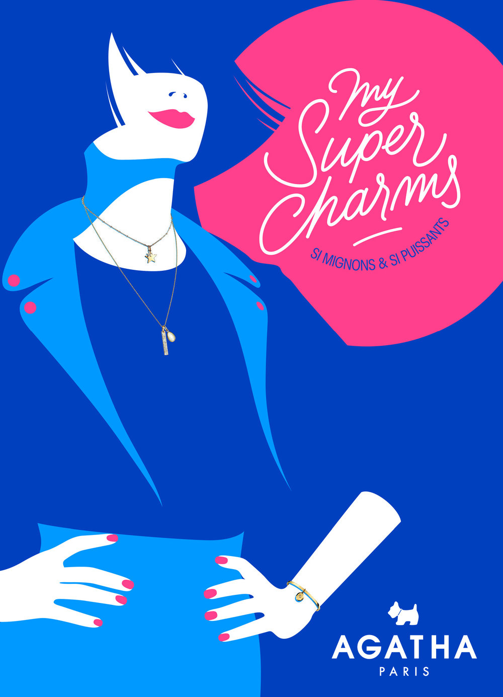 My Super Charms  - Réalisation d'une série de 12 illustrations en collaboration avec l'agence Cheeeeese - ParisIdée :Votre Super pouvoir ? Votre Super personnalité ? Votre secret ?My Super Charms !Une Super collection de charms aux symboles si mignons et aux pouvoirs si puissants.