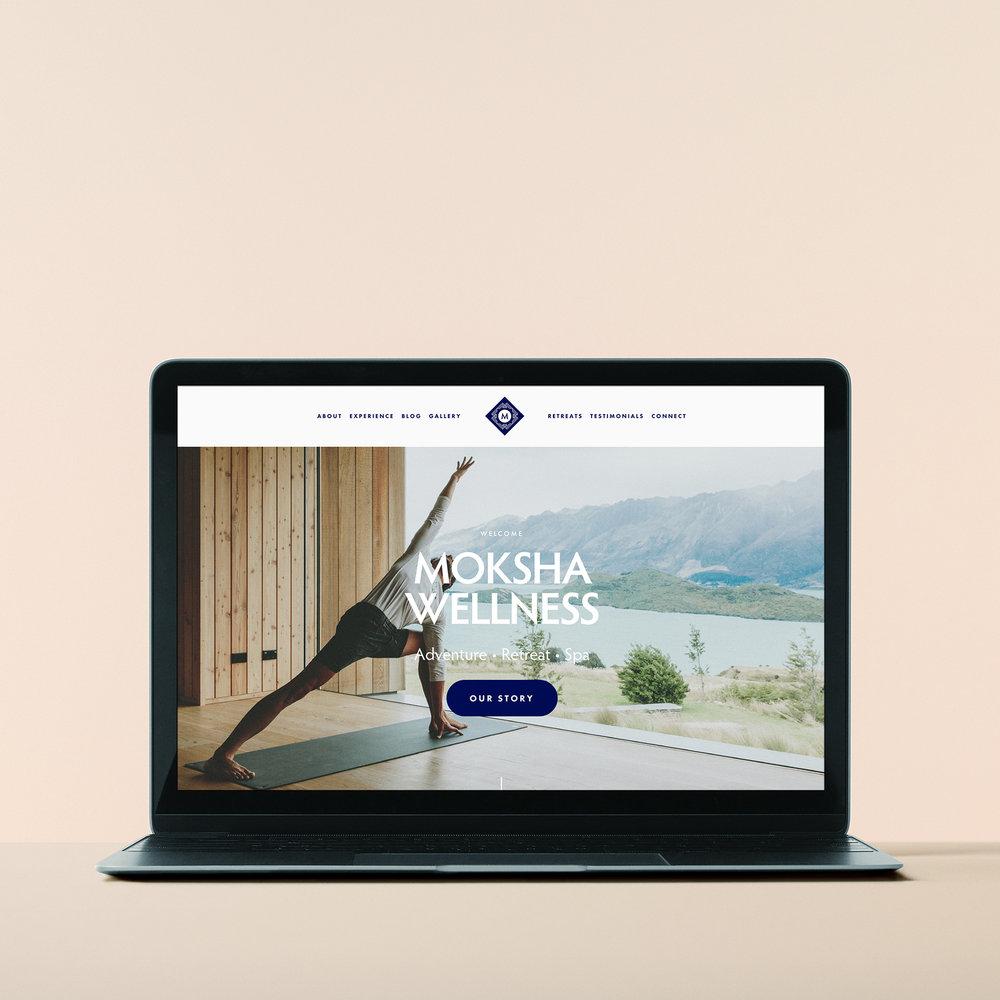 Moksha - Web / template design / branding