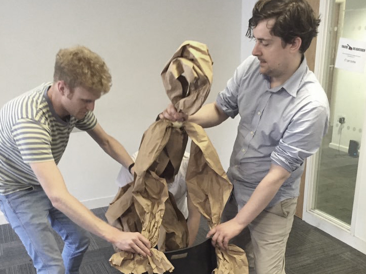 Actors from Rosebery Management developing their puppetry skills in a bespoke workshop
