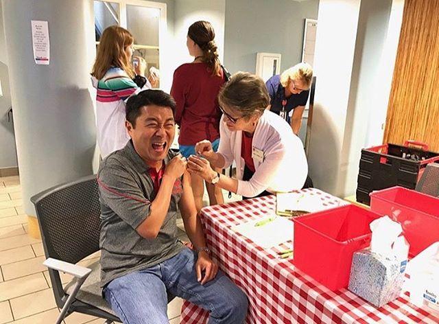 Flu Shot Friday! Keeping Boaz healthy 🐝🐝
