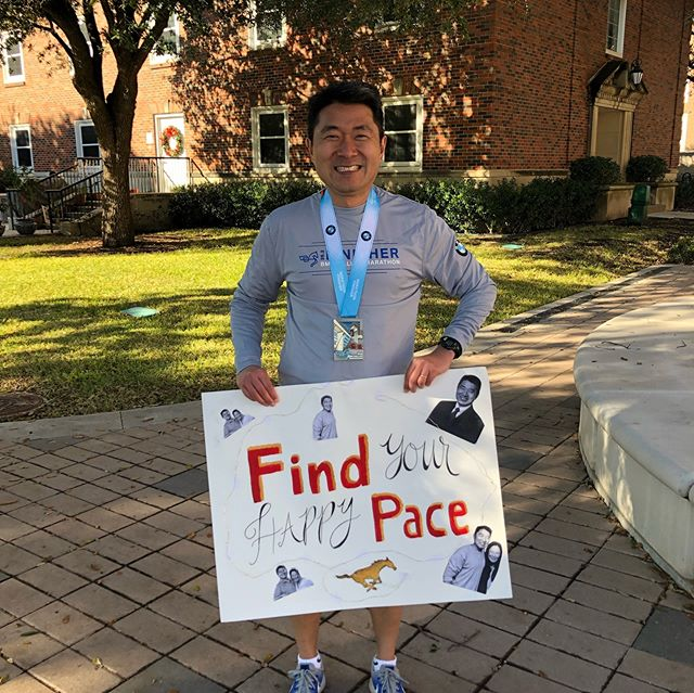 Fantastic Chemistry professor. Best FiR on campus (we might be biased). Awesome dad, husband, and role model! And now...MARATHON RUNNER. We had a blast cheering on someone who is always cheering for us today! We love you @sondavidy!