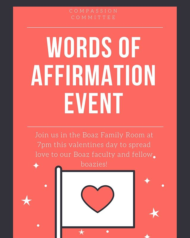 Join us tonight to write a note to anyone your thinking of today at 7pm in the Boaz living room