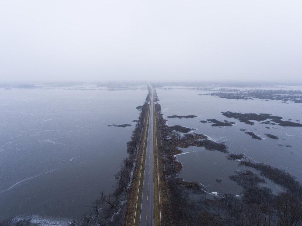 Highway | Rend Lake, IL | DJI Phantom 4
