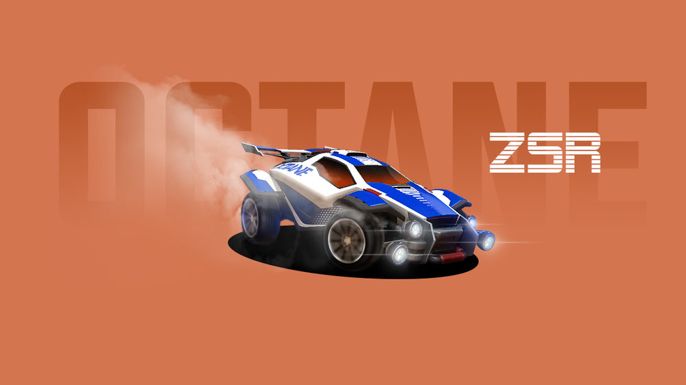 """Rocket League: Octane ZSR [3D]"" is another example of creative work I made as a fan of the video game, Rocket League. Using a screenshot from the Xbox version, I masked out my favorite car and turned it into a standalone desktop background. I loved working with the Spin Blur filter in Photoshop to create the illusion of spinning tires. I added lens flares on the headlights and smoke from the tires to give the car an even more dramatic effect."