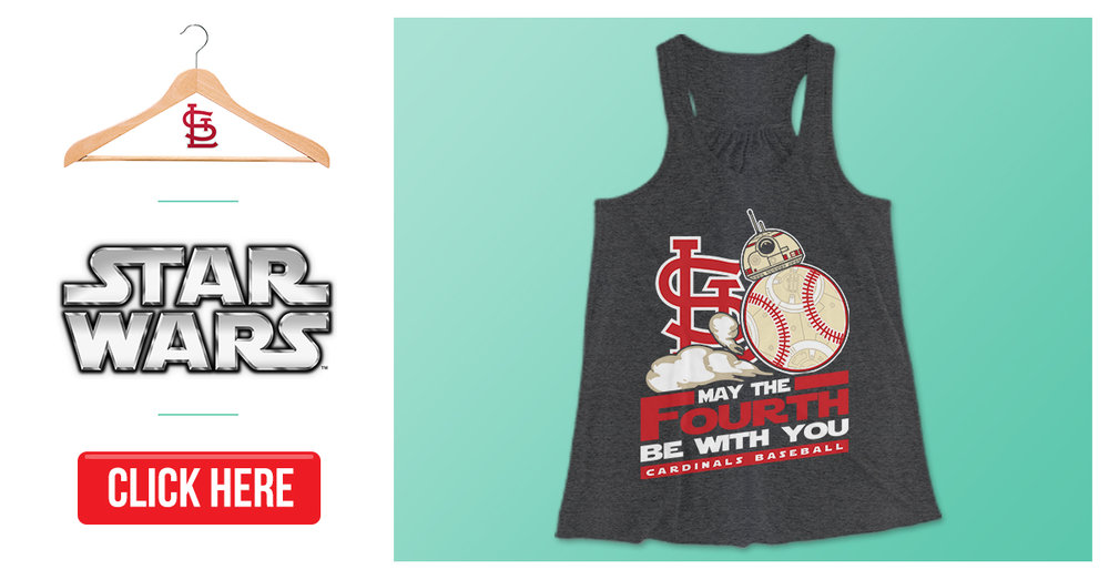 """May the Fourth"" was an apparel graphic created for, you guessed it, May the 4th. Being a long-time fan of the St. Louis Cardinals, I always look forward to Star Wars Night, which usually takes place on or around this particular day, which has become sort of a parody on the phrase ""May the force be with you."" I enjoyed redesigning the popular droid, BB-8, as a baseball and creating this Website Conversion ad for my client."