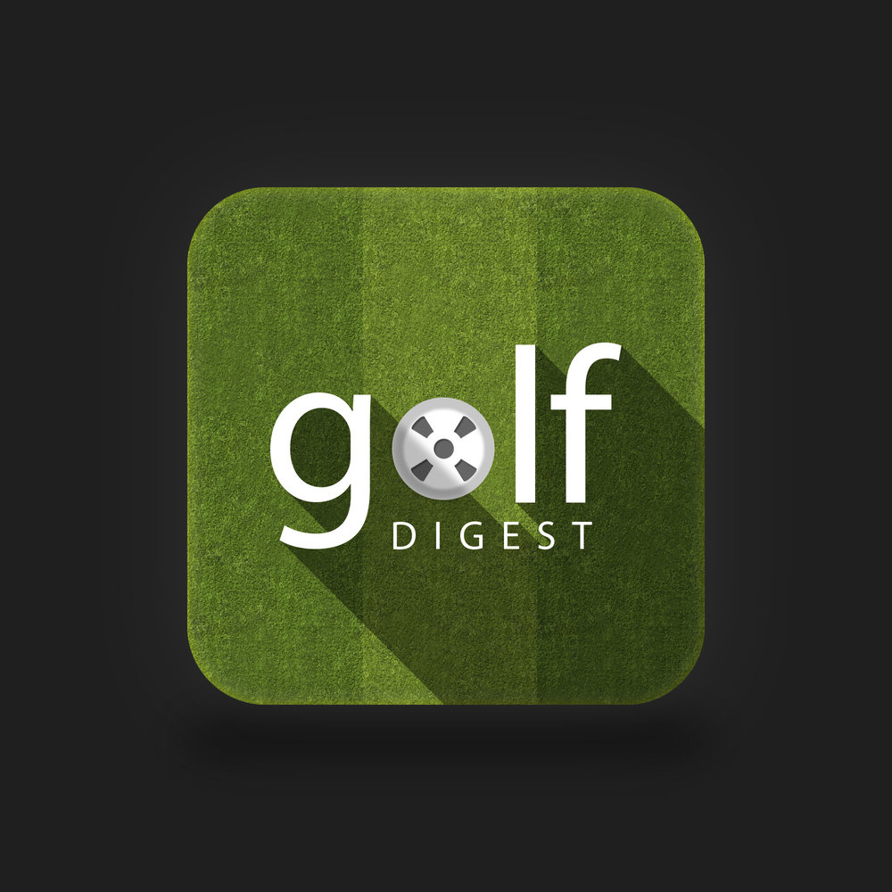 """Golf Digest"" is an app icon I created for enjoyment using Adobe Photoshop. It allowed me to get practice using a long-shadow action I had created at the time, while also giving me a distraction during the (seemingly) HOURS worth of commercials during the Masters tournament in April of 2014."