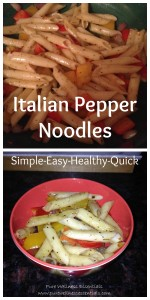 Italian Pepper Noodles