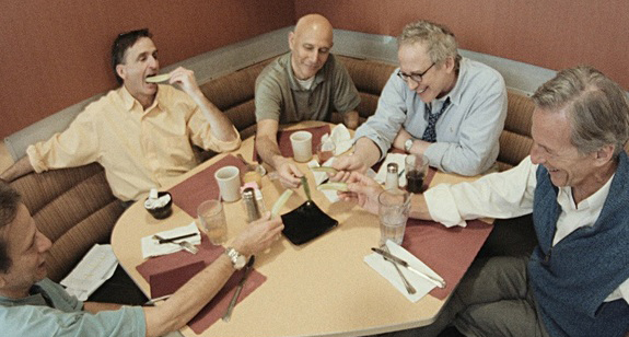 Brian Zoldessy, Scott Miller, Joel Hammer, George Roth, and Jeffrey Grover in ON A TECHNICALITY (2014)