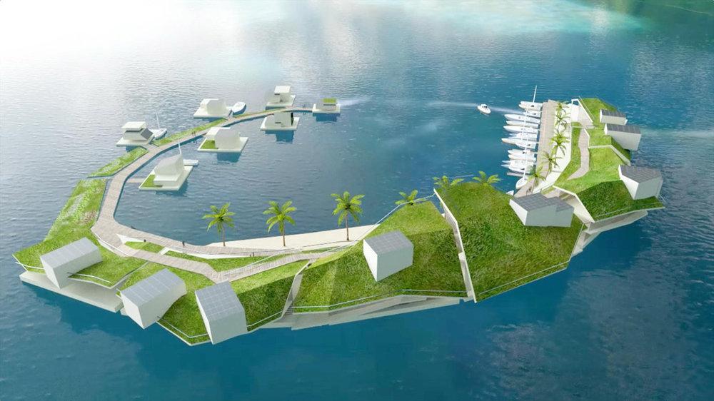 îles flottantes -